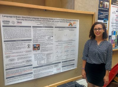 Chelsea Meagher presents at the 2016 McNair Scholars Summer Poster Session.